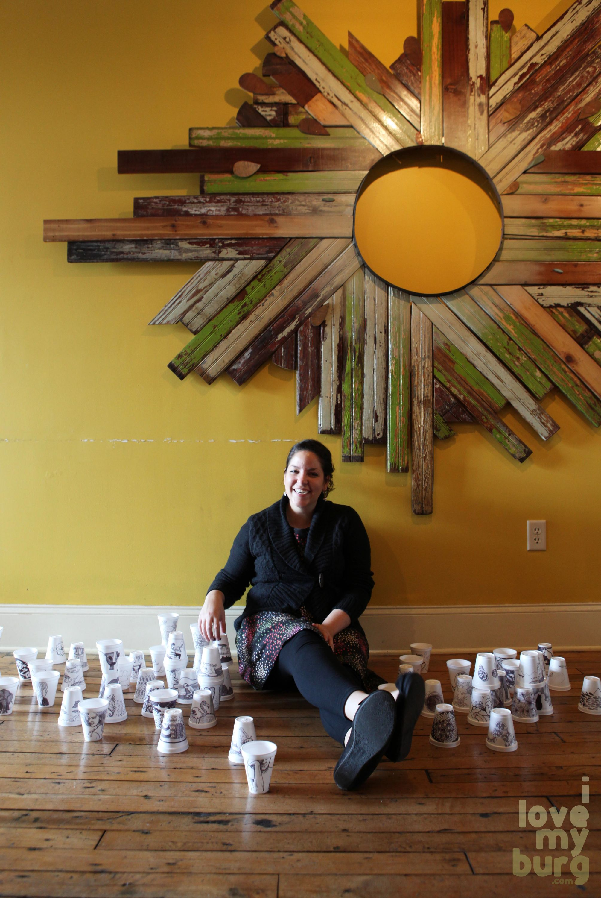 denise with cups
