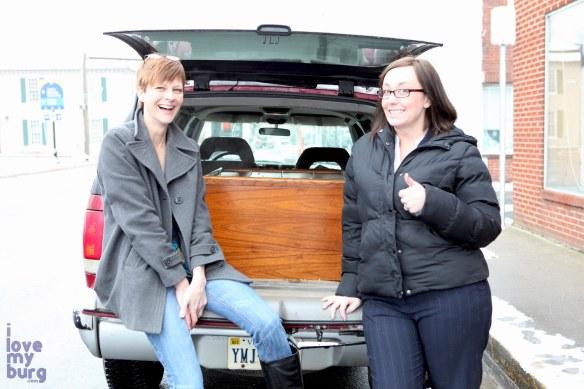 Hess Furniture buffet in car