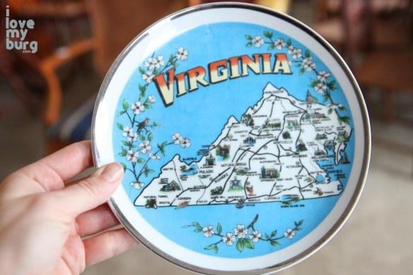 Virginia decorative plate