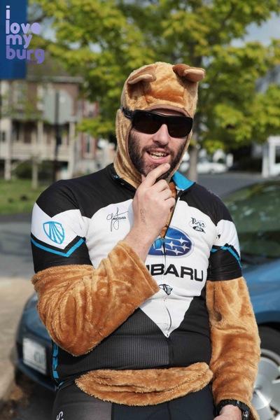 man in marsupial costume