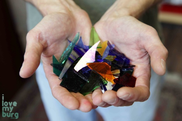 handful of broken glass