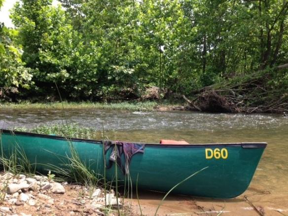 green canoe