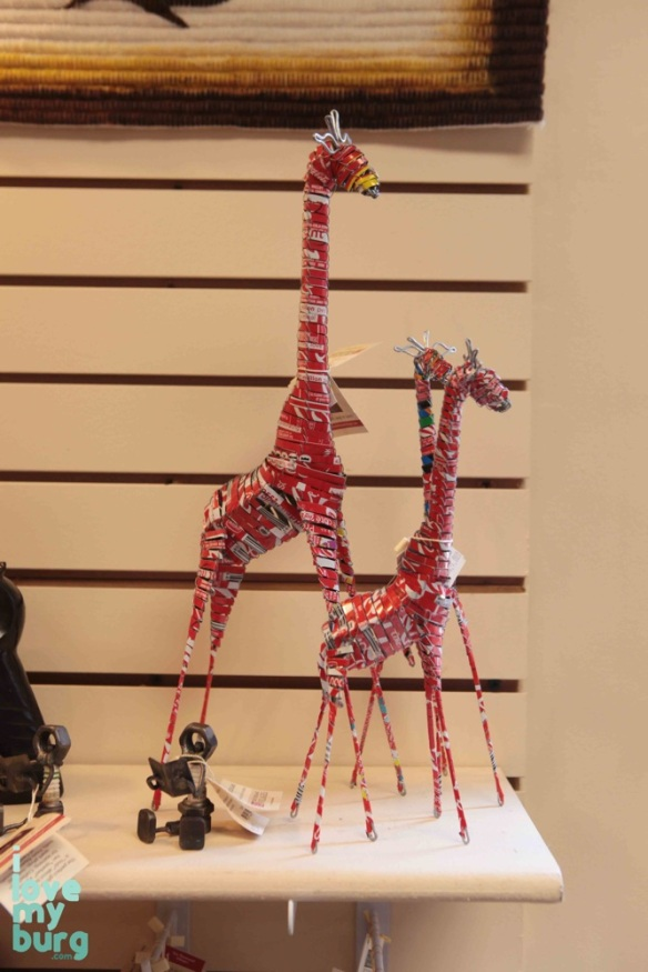 coke can giraffes