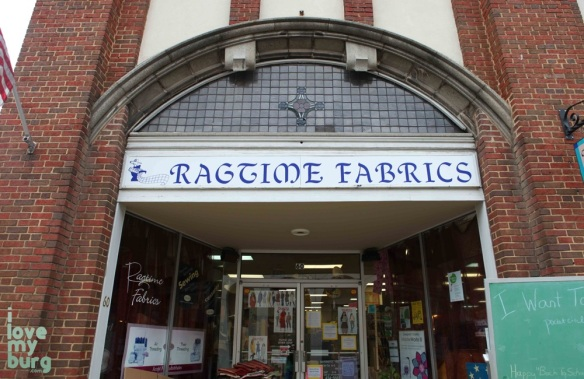 ragtime fabrics sign