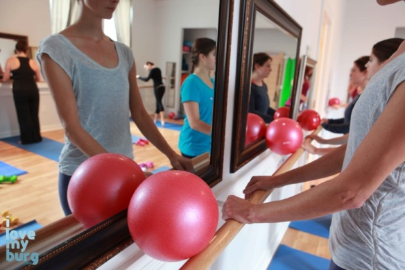Breathe Barre red ball