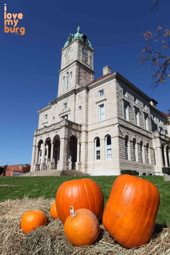 Halloween courthouse pumpkins