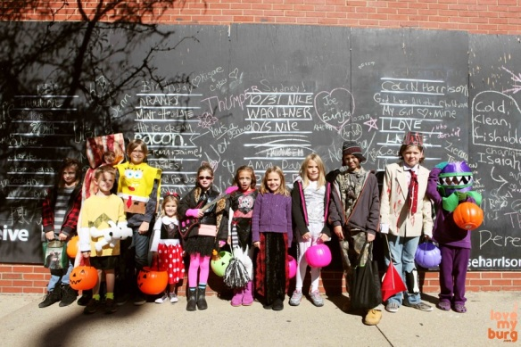 Halloween group chalkboard