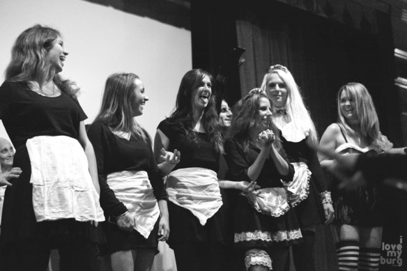 rocky horror picture show maids BW
