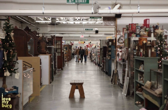 factory antique mall corridor