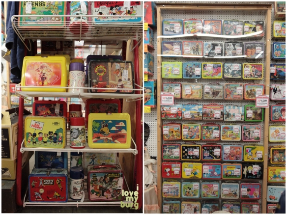 factory antique mall lunchboxes