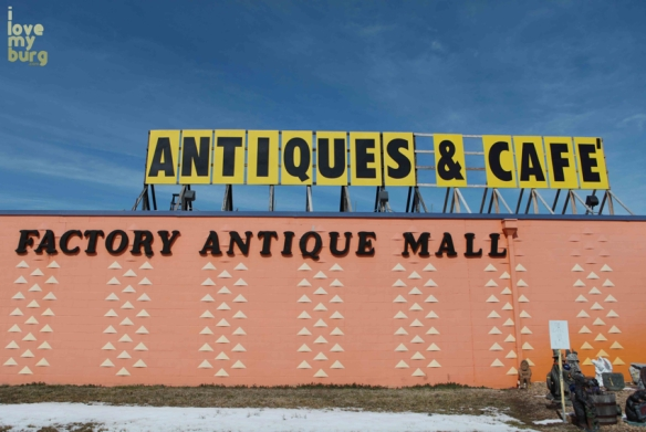 factory antique mall sign