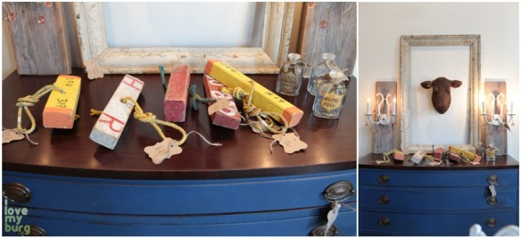 shabby love blue dresser