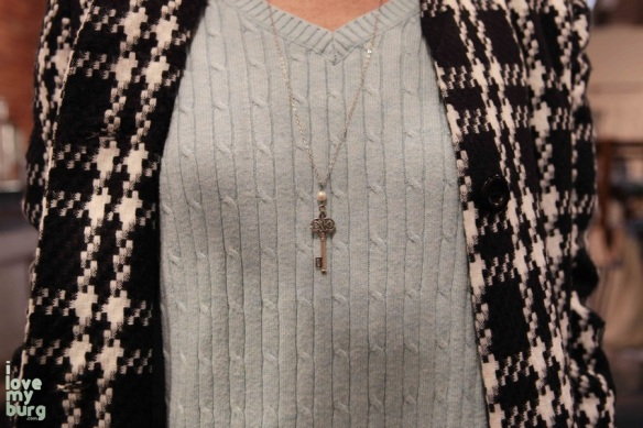 shabby love necklace