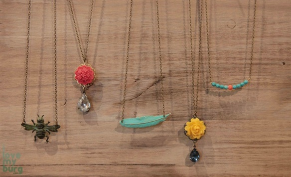 shabby love necklaces