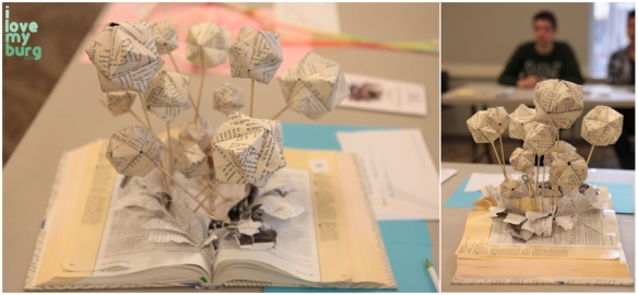 altered book balloons