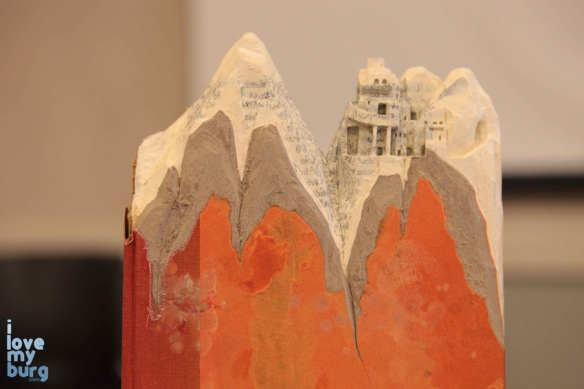altered book castle