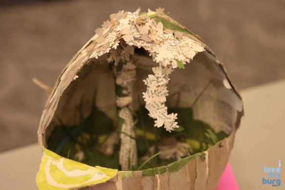 altered book flower basket