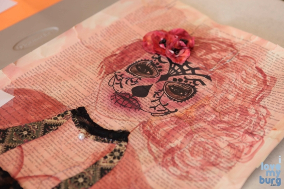 altered book pink