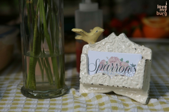 sparrowsflowers sign