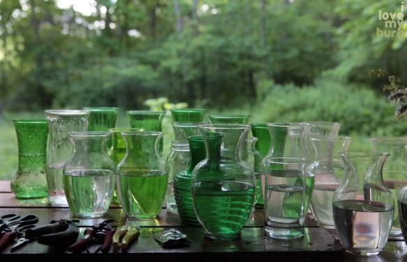 sparrowsflowers vases