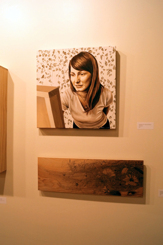 Portrait of Lynda Bostrom by Valerie Smith. Photo courtesy of Cara Walton.