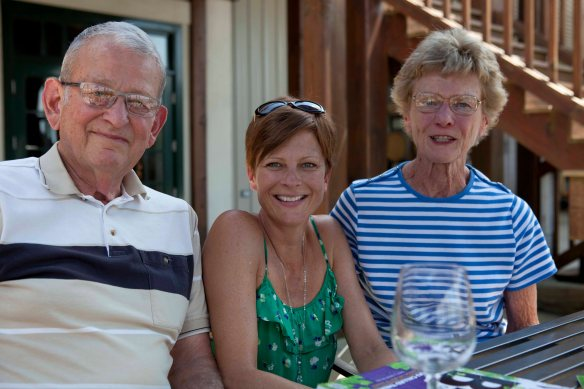 Katie's folks, Barren Ridge Vineyard