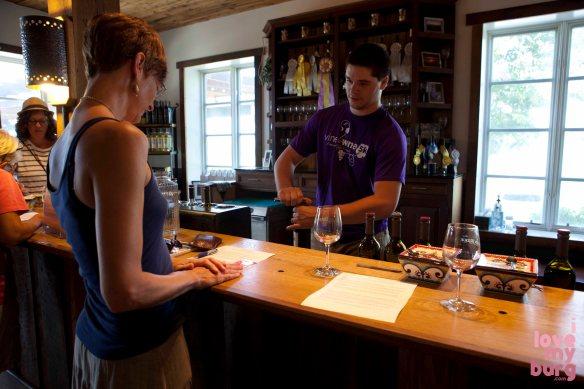 tasting room at Barren Ridge Vineyard