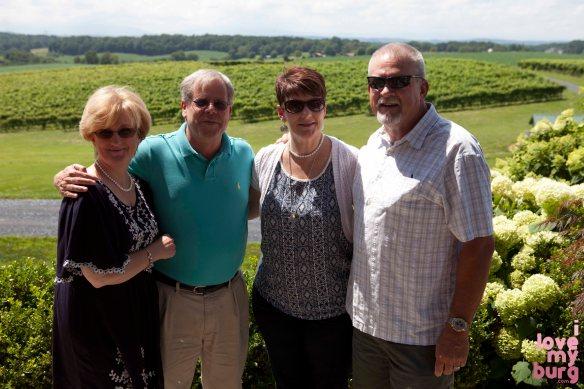 some folks we met at Barren Ridge Vineyard